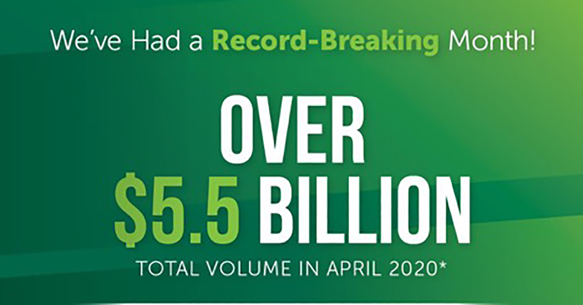 graphic showing Fairway's record-breaking month of April